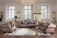 VIG Furniture VGCA4553-BGE 4553 - Transitional Beige Italian Leather Sofa Set