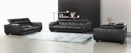 Vig Vgca911 911-Black Italian Leather Tufted Sofa Set