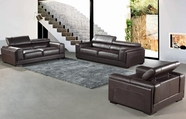 Vig Vgca915 915-Brown Top Grain Italian Leather Sofa Set