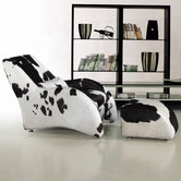 VIG Furniture VGCA920 920 - Modern California Cow Hide Chair and Ottoman