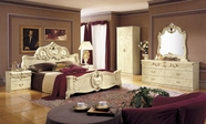 VIG Furniture VGCABOROCCO-2 Barocco Ivory Italian Classic 5-Piece Bed Set Cal. King Only
