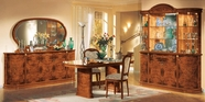 Vig Vgcafloradin-2 Flora Walnut Traditional 8-Piece Dining Set Made In Italy