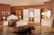 VIG Furniture VGCAROSSELLAS Complete Set: Rossella Italian Traditional Bedroom