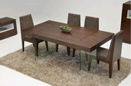 VIG Furniture VGCNAURA-D10501A-MK032-10-TOBC Aura Tobaco Modern Dining Set