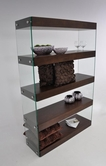 VIG Furniture VGCNAURATOB-BOOKCASE Modern Tobacco Floating Bookcase