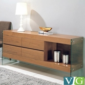 VIG Furniture VGCNAURAWAL-SIDEBOARD Modern Walnut Side board