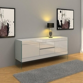 VIG Furniture VGCNAURAWHT-SIDEBOARD Modern White Floating Sideboard