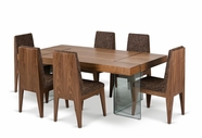 VIG Furniture VGCND10501-V36A-SET Aura - Contemporary Walnut Floating Table with Six Chairs Dining Set