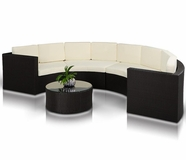 VIG Furniture VGCWMTK4301 Crescent - Round Patio Set and Coffee Table