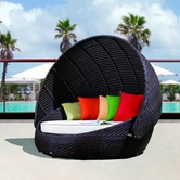 VIG Furniture VGCWRB-016 RB-016 Outdoor Round Day Bed With Canopy