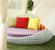 VIG Furniture VGCWS3056 S-3056 Outdoor Round Day Bed With Optional cushion