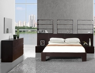 VIG Furniture VGDAFLYON Lyon Wenge Platform Queen Bed w/Nightstands