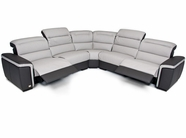 VIG Furniture VGDICARACAS-ANG Caracas - Full Top Grain Italian Leather Sofa Set with Electronic Recliners