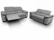 VIG Furniture VGDICARACAS Caracas - Full Top Grain Italian Leather Sofa Set with Electronic Recliners