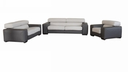 Vig Vgdimenphis-Gr-2Tone Menphis-Two Tone Grey & White Made In Italy Sofa Set