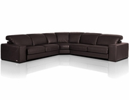 VIG Furniture VGDIMNADIR-SECT Dima Salotti Made in Italy Brown Sectional Sofa - Nadir