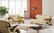 VIG Furniture VGDM2033-BND-BGE 2033 - Beige Modern Bonded Leather Sofa Set