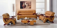 VIG Furniture VGDM2033-BND-CAMEL 2033 - Camel Modern Bonded Leather Sofa Set