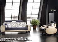 VIG Furniture VGDM2710 Modern Leather and Fabric Sofa Set - 2710