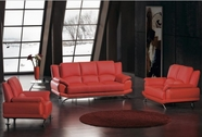VIG Furniture VGDM2818-BL 2818 Modern Red Bonded Leather Sofa Set