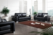 Vig Vgdm2926B-Bl 2926-Black Bonded Leather Sofa Set