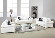 Vig Vgdm2926W-Bl 2926-White Bonded Leather Sofa Set