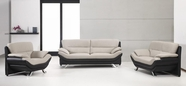 Vig Vgdm2927 2927 Bonded Leather Black And Grey Sofa Set
