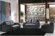 Vig Vgdm2972-Bl 2972-Black Bonded Leather Sofa Set