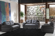 VIG Furniture VGDM2972-HL 2972 - Black Leather Sofa Set