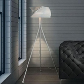 VIG Furniture VGDP7008 7008 - Modern White Floor Lamp