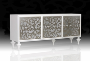 VIG Furniture VGDVAMBRABUFFET-3DOOR-WHT Ambra - Modern White 3-Door Buffet