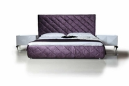 VIG Furniture VGDVLS402 Eva - Modern Purple Fabric Platform Bed