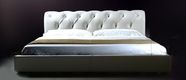 VIG Furniture VGDVLS408A Sophia - White Leather Tufted Platform Bed