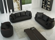 Vig Vgev106-Blk 106-Modern Black Sofa Set