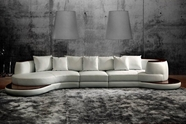 VIG Furniture VGEV109 Divani Casa 109 - Rounded Corner Leather Sofa with High Gloss Trim