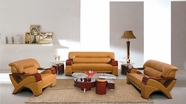 Vig 2034 Modern Camel Leather Sofa Set