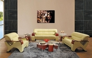 VIG Furniture VGEV2034-2 2034 Contemporary Leather Sofa set in Beige Color