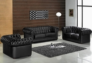 Vig Vgev2220-1 Divani Casa Paris-Transitional Tufted Leather Sofa Set
