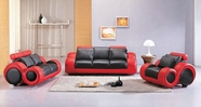Vig Vgev4088-2 4088-Contemporary Black And Red Sofa Set
