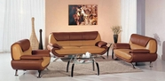 Vig Vgev7040 7040 Modern Light Brown/Dark Brown Living Room Furniture