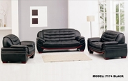 Vig Vgev7174-1 7174-Contemporary Black Leather Sofa