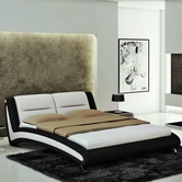 VIG Furniture VGEVBJ211B J211B - Contemporary Eco-Leather Bed