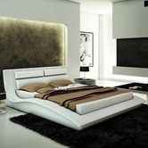 VIG Furniture VGEVBJ212W J212W - Contemporary Eco-Leather Bed