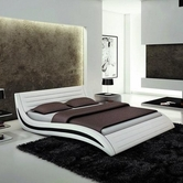 VIG Furniture VGEVBJ213 Apollo - Contemporary White Eco-Leather Bed