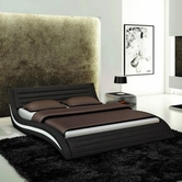 VIG Furniture VGEVBJ213B Apollo - Contemporary Black Eco-Leather Bed