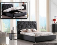 VIG Furniture VGEVC620-BLK Zeus - Modern Black Leatherette Platform Bed with Lift Storage