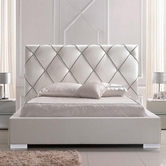 VIG Furniture VGEVC620-WHT Zeus - Modern White Leatherette Platform Bed with Lift Storage