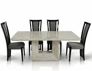 VIG Furniture VGEXMOZART Mozart - Modern Marble Dining Set