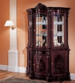 VIG Furniture VGFMREGINA-3DR-CHINA-MAH Regina Traditional Mahogany 3 Door China Cabinet