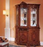 VIG Furniture VGFMREGINA-3DR-CHINA-WAL Regina Traditional Walnut 3 Door China Cabinet